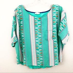 Anthropologie Meadow Rue Blouse Short Sleeve Small